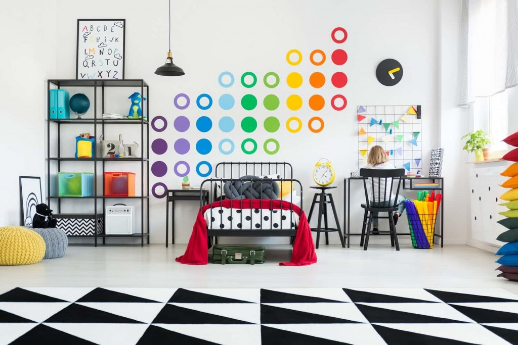 pop art monochrome playroom ideas
